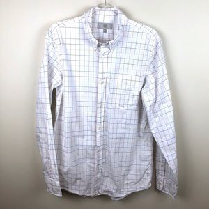 Jack Spade Button Down Shirt White Rainbow Checks